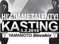 YAMAMOTO Slovakia kasting - záujem prekonal všetky očakávania!