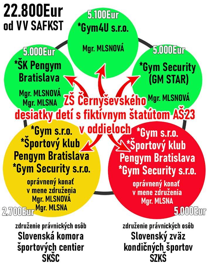 Financie pre oddiely ovládané p. Mlsnom