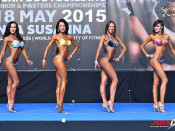 2015 EBFF Championships - Junior Bikini over 166cm