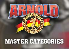 2019 Arnold Classic Europe - Master Categories
